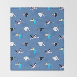 Tropical birds Throw Blanket