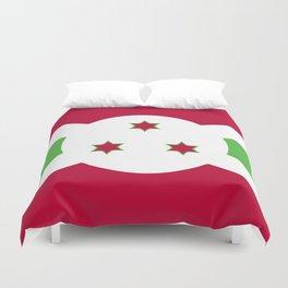 Burundi flag emblem Duvet Cover