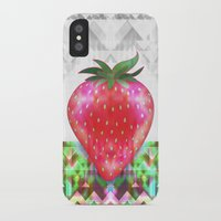 strawberry iPhone & iPod Cases featuring Strawberry by Ornaart
