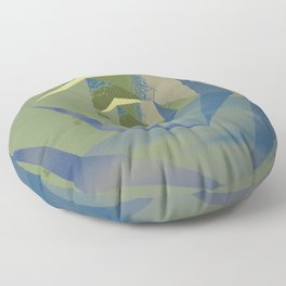 Multifaceted - Serpentine and Lapis Lazuli Floor Pillow
