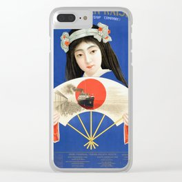 Vintage Travel Poster- Toyo Kisen Kaisha Clear iPhone Case