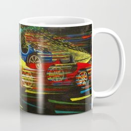 1927 Voiturette Grand Prix of  Italian Tripolitania landscape painting Coffee Mug