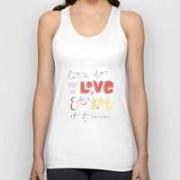 marc Tank Tops featuring marc jacobs quote by Mandie Kuo