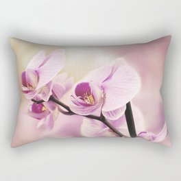 orchid in bloom Rectangular Pillow