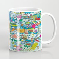monster inc Mugs featuring Chez Monster by Clayton (CTON) Hanmer