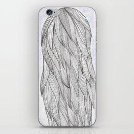 Long haired girl iPhone Skin