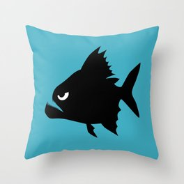 Angry Animals - Piranha Throw Pillow
