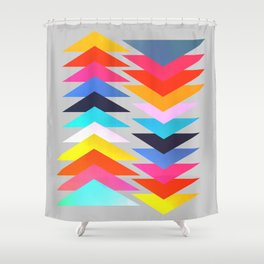 Multicolored triangles Shower Curtain