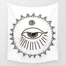eye, spiral Wall Tapestry