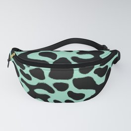 Green and Black Poison Dart Frog Fanny Pack