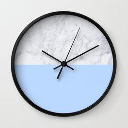 Duck Egg Marble Wall Clock