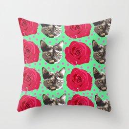 Calico Roses Throw Pillow