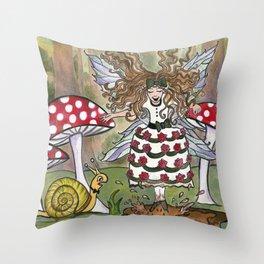 Fairy Stomp Throw Pillow
