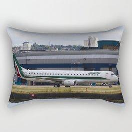 Alitalia  Embraer ERJ-190 London City Airport Rectangular Pillow