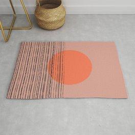 Abstract pattern 7o j landscape sunset orange Rug