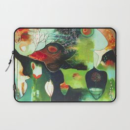 """Inner Whisper #1"" Original Painting by Flora Bowley Laptop Sleeve"