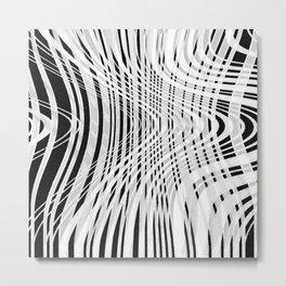 curvy barcode Metal Print