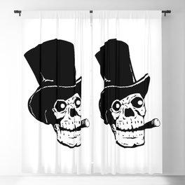 Dead Skull Top Hat & Cigar Blackout Curtain