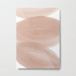 Nude Watercolor Shapes Metal Print
