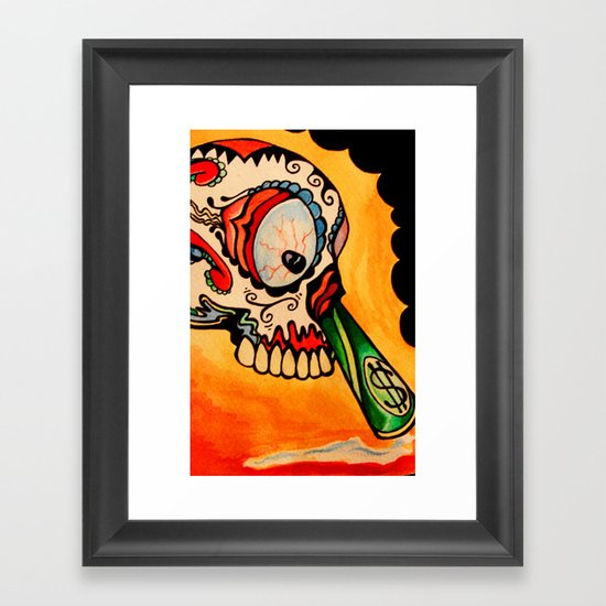 los muertos  Framed Art Print
