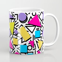 Seamless colorful abstract geometric pattern in 80th retro memphis style Coffee Mug