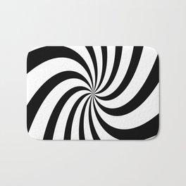 Spiral (Black & White Pattern) Bath Mat
