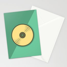 Vinyl records icon illustration Stationery Cards