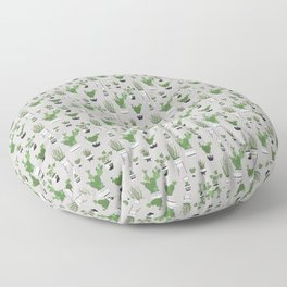 Cactus Love (in gray) Floor Pillow