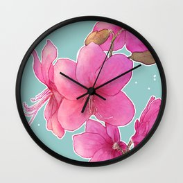 Rhododendron albrechtii Wall Clock