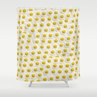 eggs Shower Curtains featuring Eggs by Tyler Spangler