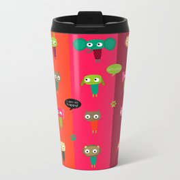 Cute animals Metal Travel Mug