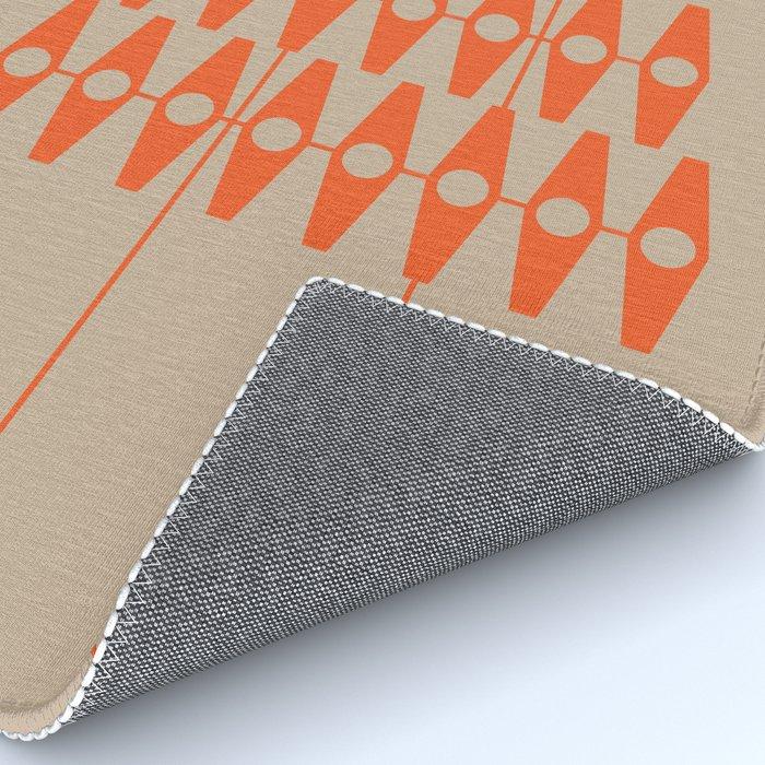 abstract eyes pattern orange tan Rug