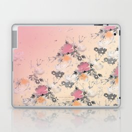 ombre floral - all Laptop & iPad Skin