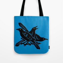 Grackles, the most diabolical birds, take over Austin, Texas Tote Bag