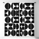 Mid Century Modern Geometric 04 Black by theoldartstudio