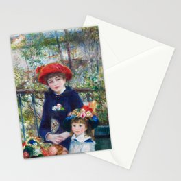 Two Sisters (On the Terrace) (1881) by Pierre-Auguste Renoir Stationery Cards