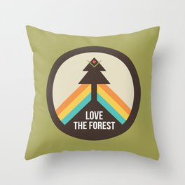 For the Love of the Forest Throw Pillow