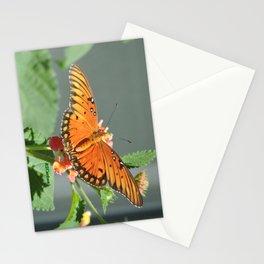Gulf Fritillary on Lantana Stationery Cards