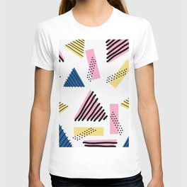 ABSTRACT GEOMETRIC RETRO INSPIRED PATTERN T-shirt