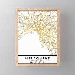 MELBOURNE AUSTRALIA CITY STREET MAP ART Framed Mini Art Print