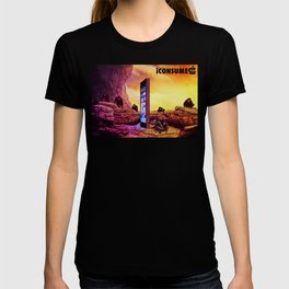 Ape Men meet iPhone Monolith - 2001 A Space Odyssey iCONSUME T-shirt