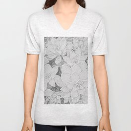 Stone Flowers Unisex V-Neck