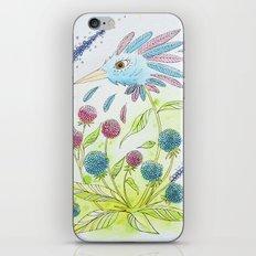 Flower-bird iPhone & iPod Skin