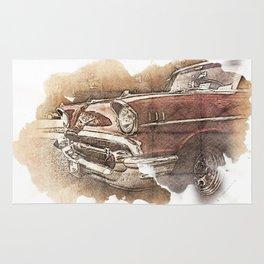 Retro Car Rug