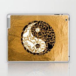 Yin-Yang Cats - Gold Laptop & iPad Skin
