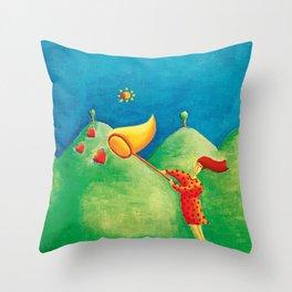 Catching Love Throw Pillow