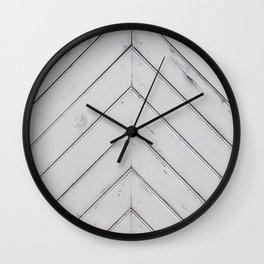 Wooden pattern - arrow shape, art decor Wall Clock