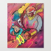 mega man Canvas Prints featuring Mega Man Tribute by Logan  Faerber
