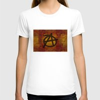 anarchy T-shirts featuring Distressed Anarchy by Bruce Stanfield