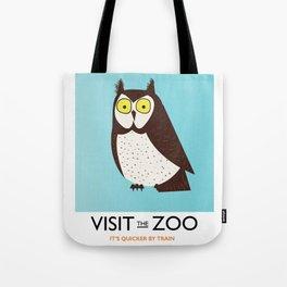 visit the zoo owl Tote Bag